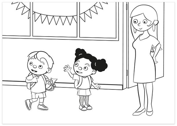 Kleurplaat-dagloeloe-dagpompom-2018-beginschooljaar