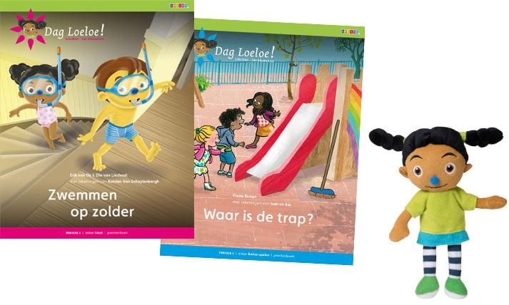 Prentenboek en minipopje Dag Loeloe!