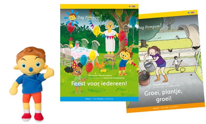Prentenboek en minipopje Dag Pompom!