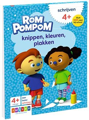 Rompompom - doeblok 'Knippen, kleuren, plakken'