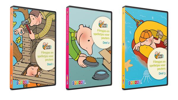Drie dvd's met animatiefilmpjes en interactieve spelletjes