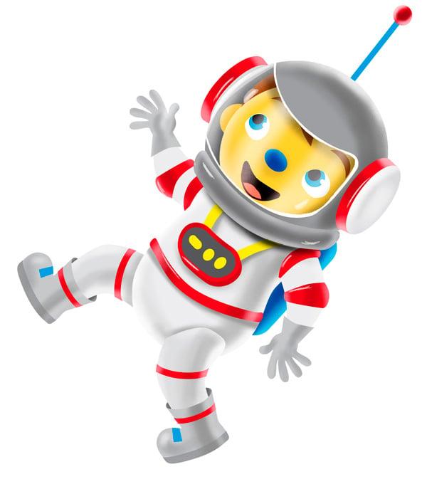 Pompom in de ruimte